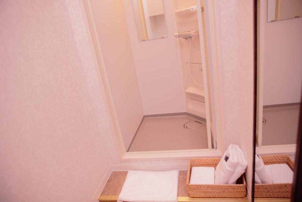 スリムビューティハウスのシャワールーム